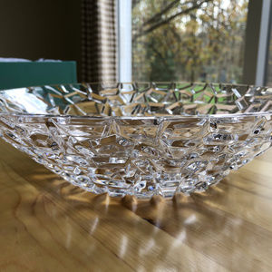 New 12-inch Tiffany Rock-Cut Crystal Bowl